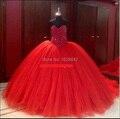 Cristal Doce 16 dresses vestido de 15 vestidos de vestidos de 15 anos de debutante quinceanera vestidos red vestidos meninas vestido de baile