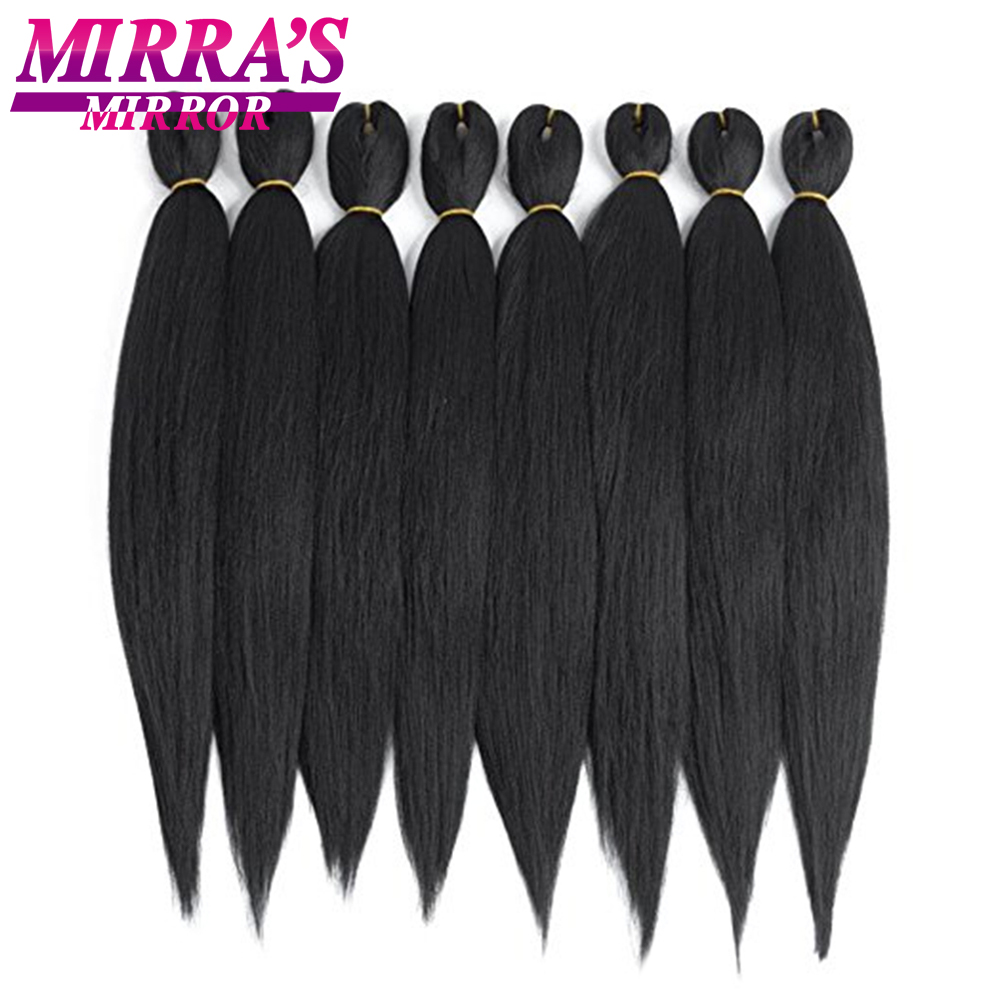 Hair Braids Mirras Mirror Synthetic Braiding Hair 8packs 24 Crochet Hair Ombre Jumbo Braids Pack Of Hair 90g/pack Low Temperature Fiber Hair Extensions & Wigs
