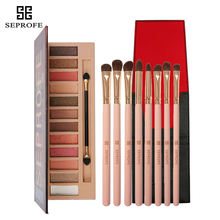 Grapefruit Makeup Eyeshadow Palette Waterproof Matte&Shimmer 12 Colors Nude Pigments Professional With Brush