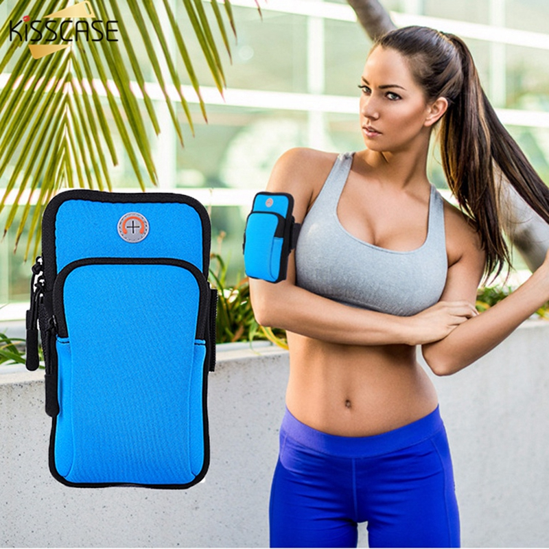 KISSCASE 6.0 Universal Armband For iPhone 7 6 X Sport Running Bag For Samsung S9 S8 Plus New Fitness Arm Band Sport Accessories