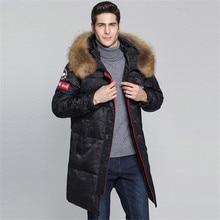 все цены на 2019 Fashion Winter New Jacket Men Warm Coat Fashion Casual Parka Medium-Long Thickening Coat Plus Size Men Clothes For Winter