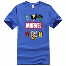 New Fashion Marvel Short Sleeve T-shirt Men Superhero print t shirt O-neck comic Marvel shirts tops men clothes Tee