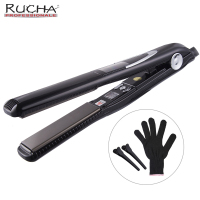 RUCHA Sloshing Professional Titanium Iron Vibrate Message Keratin 470F Flat Iron Fast Hair Straightener