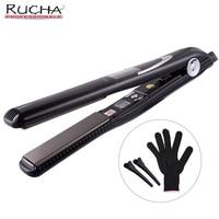 RUCHA Sloshing Professional Titanium Iron Vibrate Message Keratin 470F Flat Iron Fast Hair Straightener