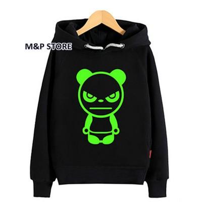 Noctilucent luminous light 3d print kids boy girl hooded hoodie hip hop spiderman bat man super bear bunny basketball Children (13)