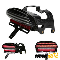 Black Tri Bar Fender LED Tail Brake Light For Harley Dyna Fat Bob FXDF 2008 2013 Motorcycle Accessories Taillight