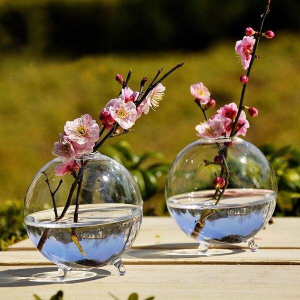 Ясно мяч Стекло Висячие Ваза Бутылка Террариум Гидропоника контейнер горшка цветок DIY домашний декор сада