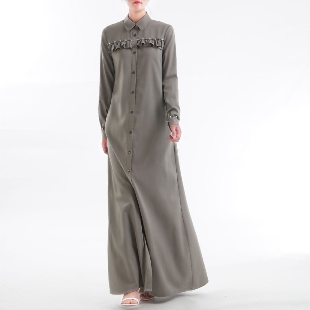 Dubai fashion Arabic women jubah Muslim women blouse shift dress