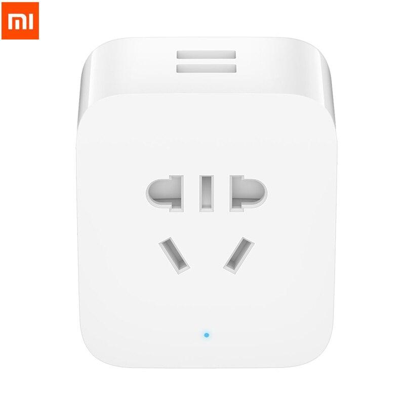 2018 New Xiaomi Mijia Smart Dual USB Plug Socket Enhanced Wifi Control Timer Count Down Function BC1.2 Cute Mini 2200W 10A