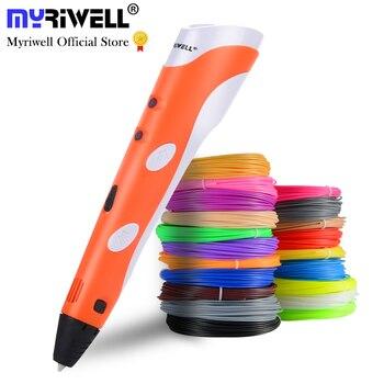 Myriwell 3D drukowanie długopisy 1.75mm ABS inteligentny 3D pióro z włókien dla dzieci dziecko edukacji narzędzia hobby zabawki