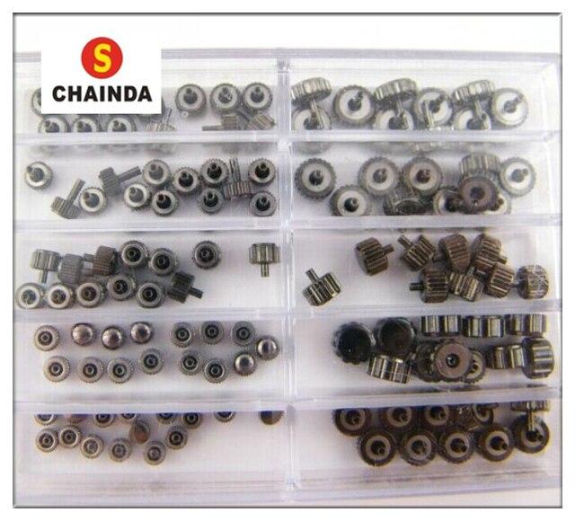 Gratis Verzending Een Set Unieke Zwart Koper Kronen Horloge Gloednieuwe Horloges voor Onderdelen Horloge Reparatie Noodzaak