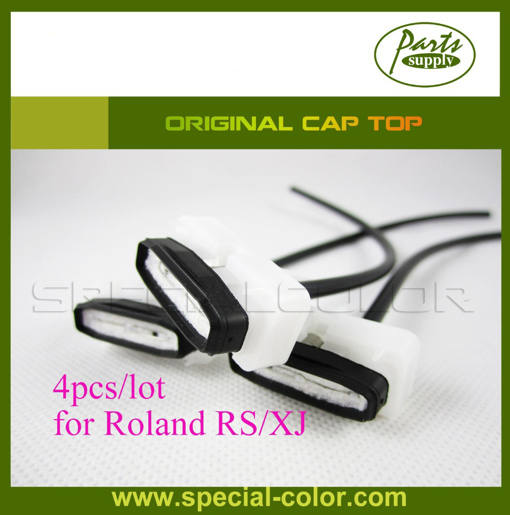 4pcs/lot Japan Cap Station Original DX4 Cap Top for Roland RS/XJ original dx4 printer cap station for roland xj 740 640 both water based and solvent based capping station top