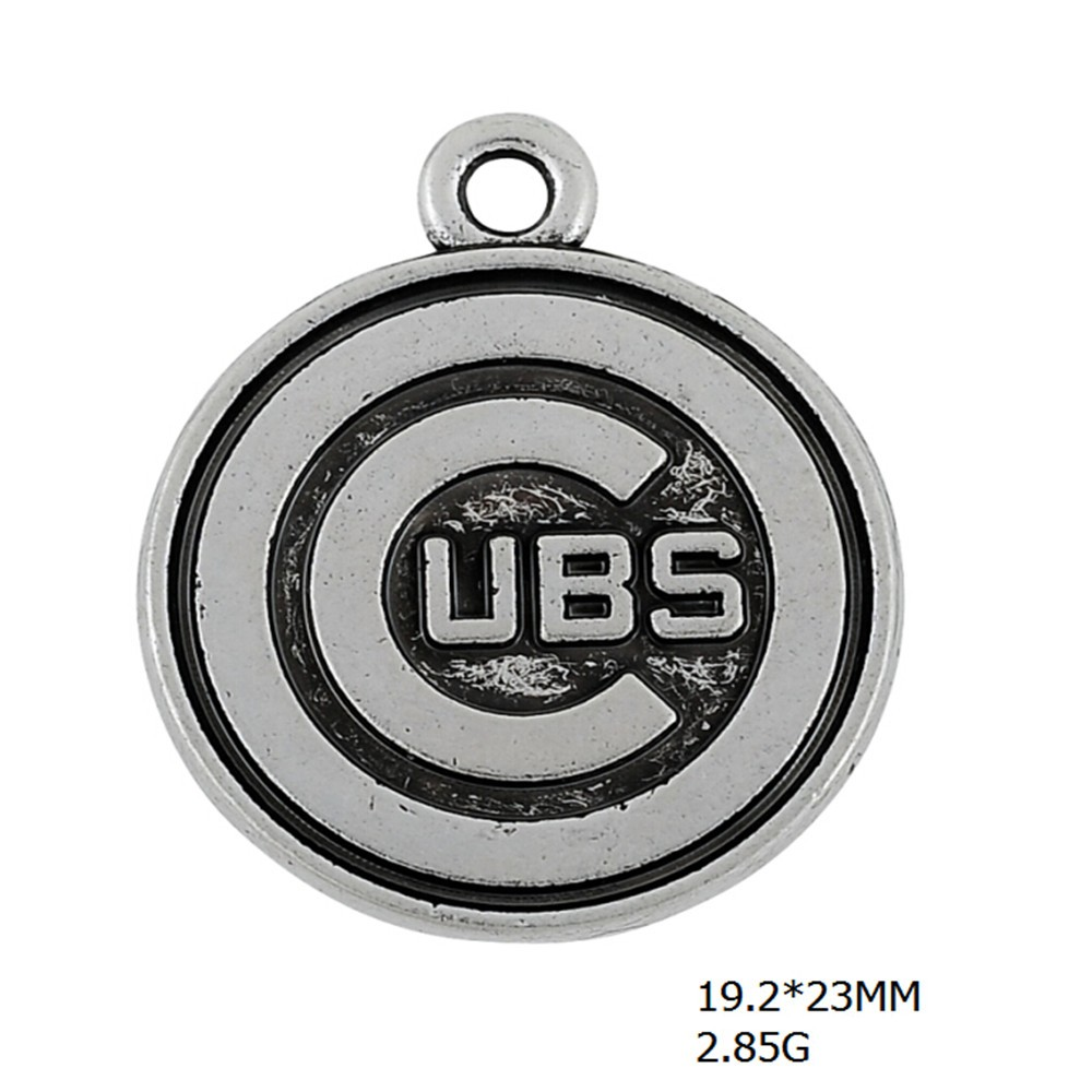 Us 1 5 Skyrim 10pcs Ubs Letter Charm Statement Symbol On Behalf Of United Bank Switzerland Message Round Charms For Jewelry Making In From