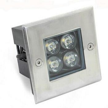 4W LED подземный свет водонепроницаемый IP68 похороненный напольный светильник AC85V-265V сад/Трава Земля/сцена/бар/квадратное освещение 20 шт