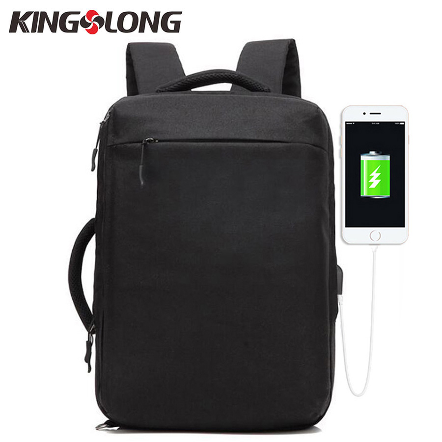 KINGSLONG 2018 New Multi-Function Men 15.6 Inch Laptop Backpack Notebook Bag for Business Large Capacity Waterproof School Bag 14 15 15 6 inch flax linen laptop notebook backpack bags case school backpack for travel shopping climbing men women