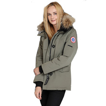 2017 Brand New Women Winter Coat MonteBello Parka Goose Down Feather Jacket Waterproof Overcoat with Big Real Raccoon Fur Collar