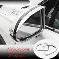 ABS хром для Hyundai Santa FE 2018 2019 автомобильный зеркальный блок заднего вида  дождевик  Накладка для бровей  автомобильные аксессуары для укладки  2...