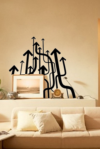Direction wall decals vinyl stickers home decor living room decorative stickers bedroom wallpaper murals quote adhesive wall