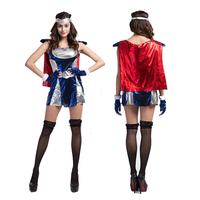Anime/Filme/Comic Thor Supergirl Trajes Cosplay Do Partido/Estágio/Trajes de Halloween Mulheres Dressws & Cloak & Headwear & Luvas Terno