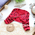 new 2014 Spring autumn children sweater gilrs cape baby outerwear girl's fashion all-match red dot cardigan kids Knitting Shirt