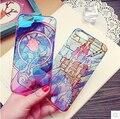 Bonito dos desenhos animados castelo Rose Flower Case capa para Apple iPhone 6 6 S capa de Silicone 6 Series caso transparente macio para o telefone