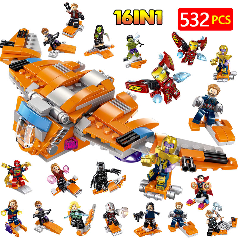 16 In 1 Super Heroes Guardian Galaxy Model Building Blocks Compatible With Legoed Iron Man Hulk Figures Bricks toys for children16 In 1 Super Heroes Guardian Galaxy Model Building Blocks Compatible With Legoed Iron Man Hulk Figures Bricks toys for children