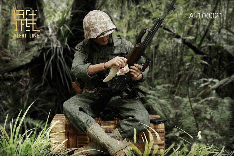 Alert Line AL100021 1//6 WWII USMC BAR Rifle Gunner Figure BAR Ammo Belt