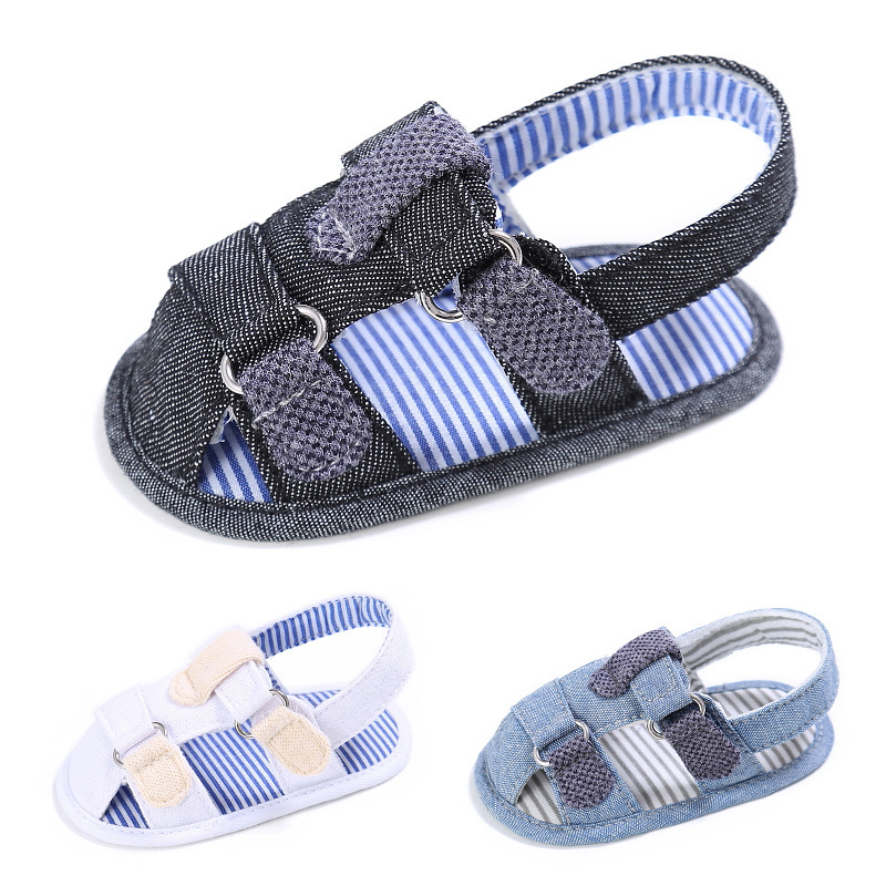 Raise Young Summer Canvas Baby Boy Sandals Soft Soles Fashion Patch Hollow Toddler Girl Shoes Newborn Infant Footwear 0-18M