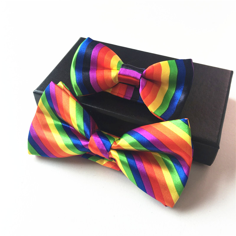 Suspender and Bow Tie Adults Rainbow 4-Clips Wedding Formal Wear Accessories