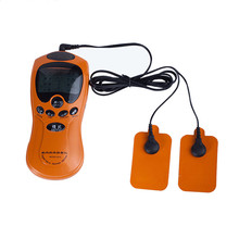 Orange Electric Full Body Meridian Massager Pulse Slimming Muscle Body Relaxation Massage Health Care Monitor with LCD Dsiplay
