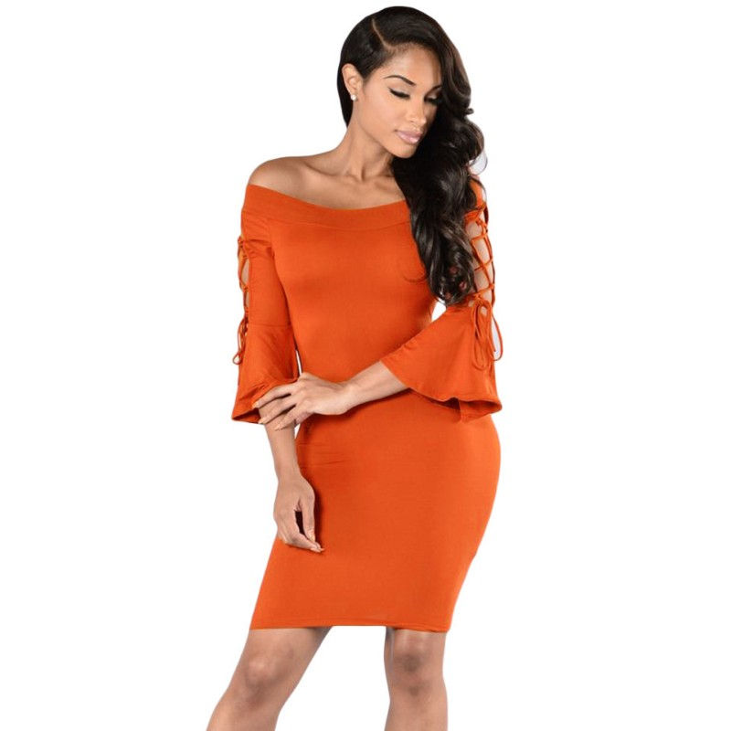 Popular Orange Club Dress-Buy Cheap Orange Club Dress lots from ...