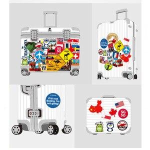 Image 5 - 39Pcs Fashion Brand Logo Reizen Stickers Wereldberoemde Toerisme Wonderen Land Regio S Logo Decals Stickers Voor Bagage Laptop