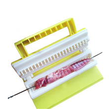WOFO Household Party Outdoor Bbq Barbecue Beef Pork Meat Kebab Maker Meat String Skewer Maker String Meat Tool