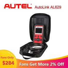 Autel AutoLink AL629 car diagnostic auto scania ABS/SRS/Engine OBD2 scanner for cars car diagnostic Tool As ML629 Ship from US 100% original autel al439 autolink scanner