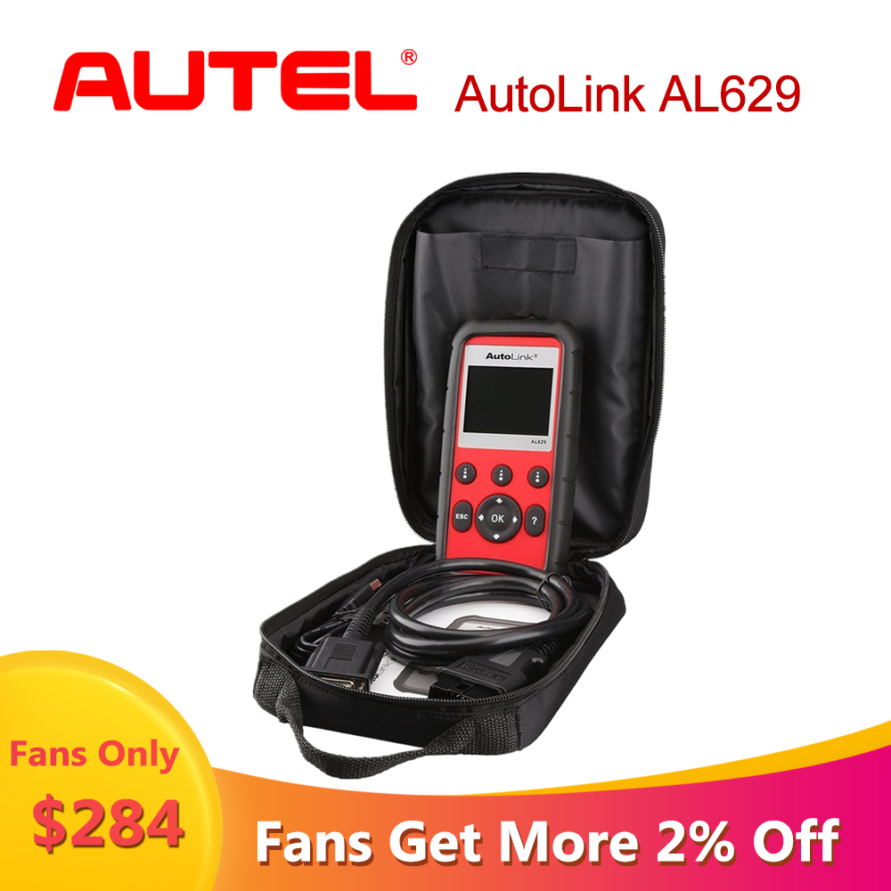Autel AutoLink AL629 car diagnostic auto scania ABS/SRS/Engine OBD2 scanner for cars car diagnostic Tool As ML629 Ship from US