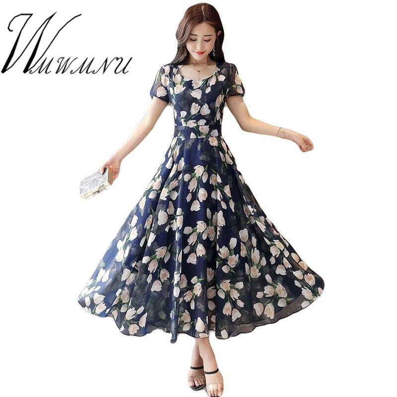df83e10425d Женское элегантное пляжное бохо платье 2018 уличная одежда мода плюс размер  3XL летнее платье для Femme