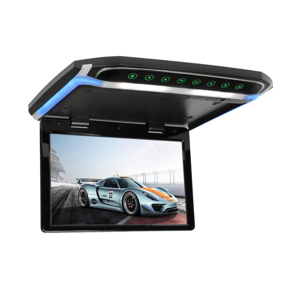 Потолочный монитор на крыше, 10 дюймов, 1080 P, ЖК дисплей, TFT экран, Автомобильный потолочный монитор, откидывающийся на крышу, монтируемый светодиодный дисплей, цифровой Широкоэкранный монитор - 6