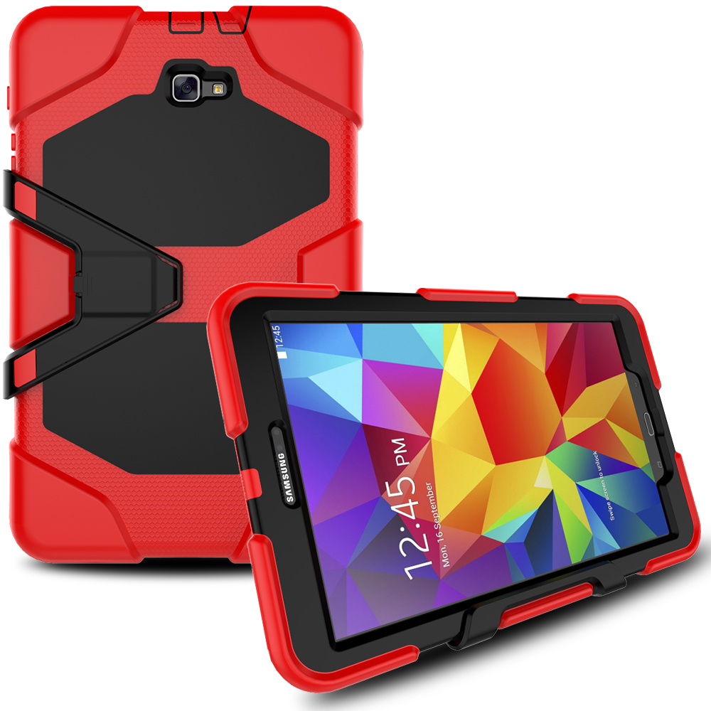 For Samsung Galaxy Tab E 9.6 T560 T561 Cover Tablet Heavy Duty Rugged Impact Hybrid Case Kickstand Protective Cover Alabasta new case for samsung galaxy tab a 9 7 sm t555 sm t550 heavy duty impact hybrid stand pc rugged cover for samsung tab a9 7 case