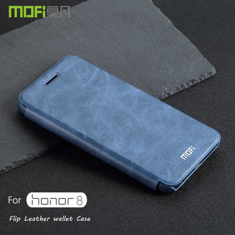 Honor 8 Case Cover MOFI Leather Wallet Flip Back Case For Huawei Honor 8 Back Hard Cover Case Card Slot Honor 8 coque capa 5.2