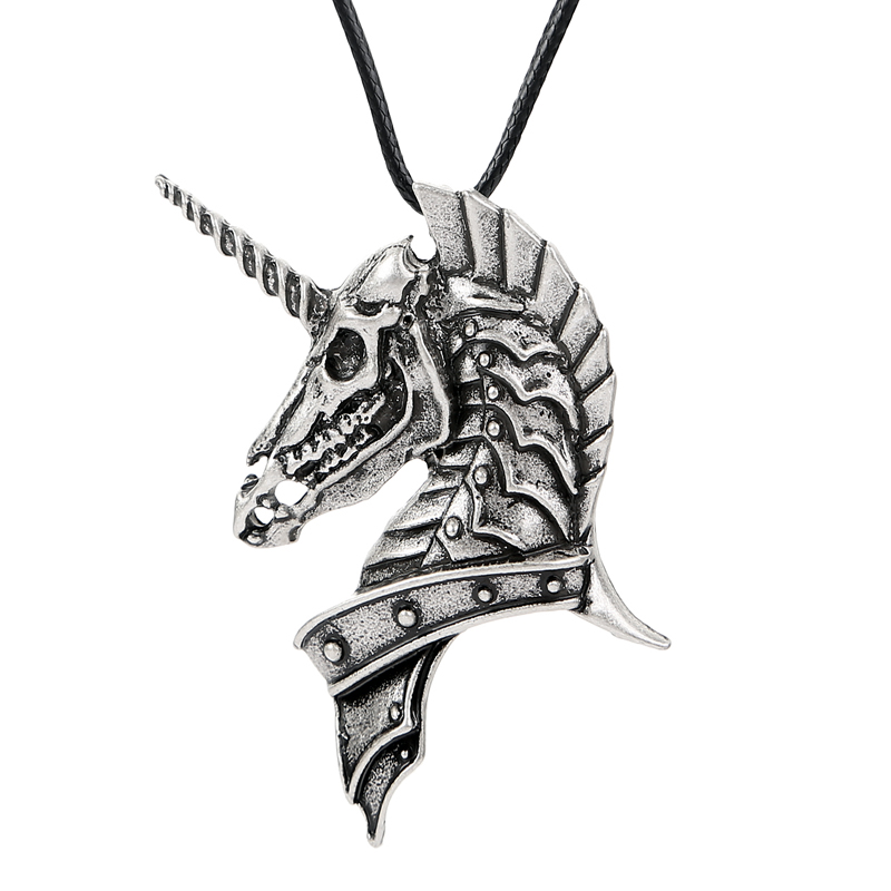 1pc Viking Caribbean Ghost Unicorn Pendant Jewelry Skull Pirates Necklace Jewelry For Women Men's Necklace