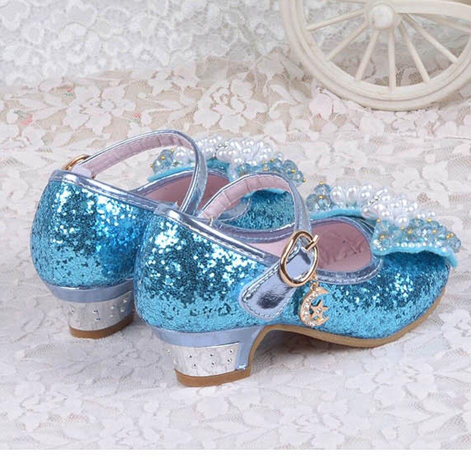 2017 Glitter Kids Sandals High heeled Dance Shoes Bling Bling ...
