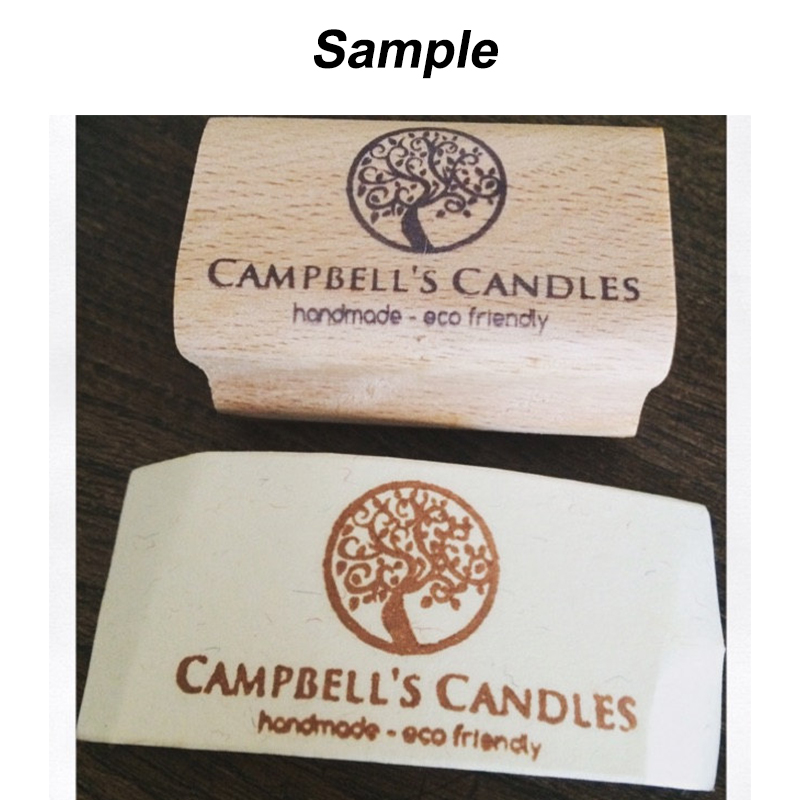1x2 inches Custom Logo Rubber Stamp Business Card Personalized Stamp ...