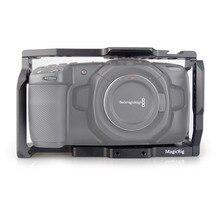 كاميرا سينما الجيب BMPCC 4 K/BMPCC 6K لتركيب ميكروفون مراقبة مصباح ليد ماجيتلاعب BMPCC 4K هيكل قفصي الشكل للكاميرا بلاكماجيك الجيب