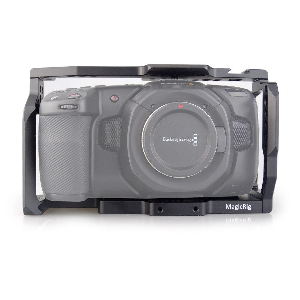 MAGICRIG 4K Câmera BMPCC Gaiola para Blackmagic Pocket Cinema Camera BMPCC 4 K/BMPCC 6K para Montar microfone Monitor de DIODO EMISSOR de Luz