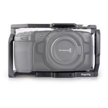 MAGICRIG BMPCC 4 к клетка для видеокамеры для Blackmagic карманная Кинокамера BMPCC 4 к для крепления микрофона монитор светодиодный свет