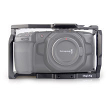 MAGICRIG BMPCC 4K Camera Cage  for Blackmagic Pocket Cinema Camera BMPCC 4K /BMPCC 6K to Mount Microphone Monitor LED Light