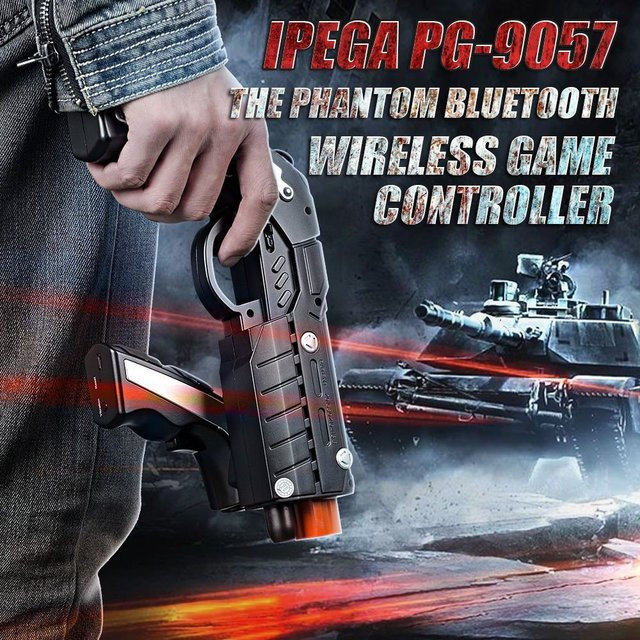Ipega PG-9057 Joystick Android Bluetooth Wireless Game Controller Gun Joystick For Phone/for Pad/Android Phone Tablet PC 2
