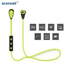SOWAK S100 Bluetooth Headset Running Sports Wireless Earphones Mini Waterproof Earbuds Universal Stereo Headsets With Microphone
