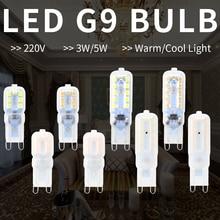 цена на G9 LED Lamp Mini Corn Light Bulb 220V Lampada Led g9 Bulb 3W 2835SMD Spotlight 14 22leds Bulb Halogen Lamp 5W Chandelier Replace