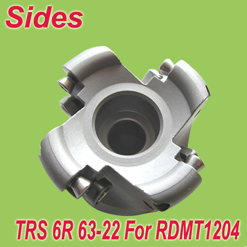 Free Shiping Two Colors TRS-6R-63-22-4T Face Milling Cutter Head for RDMT1204
